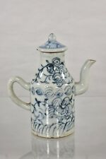 Antique Chinese Blue & White Porcelain Teapot / Wine Pot, Qing Dynasty, 19th c
