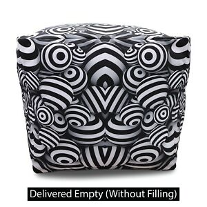 Ottoman Poufs Footstool Outdoor Indoor Comfortable Relaxation Moroccan Seat Pouf