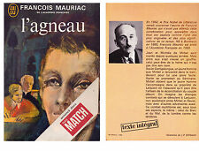 Livre L Agneau Francois Mauriac J ai Lu