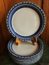 6 DANSK Belgian Blue DESSERT Plates 8.75 Bistro Cafe PORTUGAL