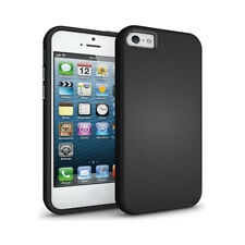 SDTEK iPhone SE / 5s / 5 Hybrid Case Shockproof Cover Silicone+Plastic [Black]