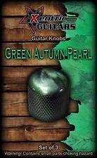 XGK153 Green Autumn Pearl Guitar Knobs (3)