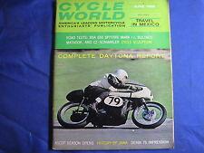 CYCLE WORLD magazine-JUNE 1966-BSA 650-BULTACO MATADOR-CZ SCRAMBLER-VINTAGE