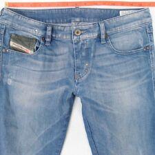 Damen Damen Diesel LHELA 008C2 Stretch Slim Fit blau Jeans W31 L34 UK Größe 12