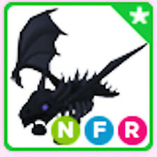 Neon Fly Ride NFR Shadow Dragon - Adopt me pet !