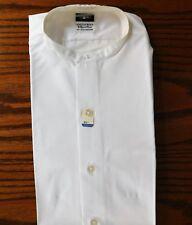Collarless shirt Austin Reed Summit size 14.5 UNUSED Iron-cheater tunic vintage
