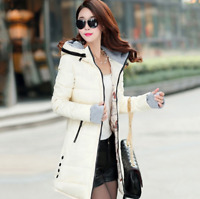 Winter women jacket hooded warm ladies coat female long parka femme manteaux