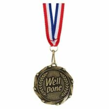 Well Done Medals with Ribbons - Engraved FREE your message - Free P+P