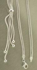2-reihige Silberkette 925 Y Kette 44 cm Himbeerkette Collier mit Anhänger Quaste