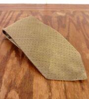 """vtg 90s Tommy Hilfiger Men's Silk Shiny Taupe Fine Dot Pattern Tie 58"""" 3.75"""""""