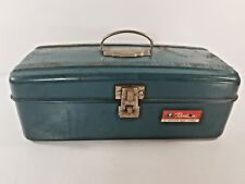 Vintage Western Auto Stores Revelation Metal Tackle or Tool Box Teal Blue