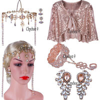 1920s Flapper Dress Vintage Headband Prom Gown Party Accessories Evening Handbag
