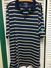 Bobbi Jones Xxlt shirt,X-H2O men golf shirt,stripe,Bartlett Country Club,Mint