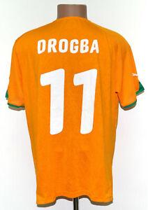 IVORY COAST NATIONAL TEAM 2010/2011 HOME FOOTBALL SHIRT JERSEY #11 DROGBA XL