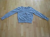 Arizona Damen Weste Jacke Gr. 40-42 mit Knopfreihe grau langarm 7 Knopfleiste