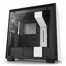 NZXT H700 White/Black, Mid Tower Computer Chassis, Tempered Glass Window, E-ATX