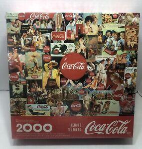 "1998 Coca~Cola Springbok Hallmark Jigsaw Puzzle New 2000 Pieces 34"" X 42"" New"
