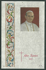 Estampa antigua de San Pablo VI andachtsbild santino holy card santini