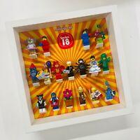 Display Frame for Lego Series 18 Minifigures 71021 No Figures 27cm