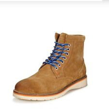 Superdry Stirling Mens Premium Leather Boots, Brown, Uk Size 9, Brand New In Box