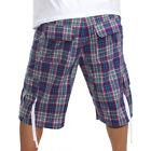 """New Artful Dodger """"Ace Plaid"""" Shorts Men's 32, 34 - Purple Plaid - MSRP 85"""
