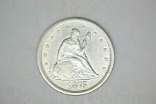 1875-S Twenty Cent Piece- Choice Details/Luster.   From local collection