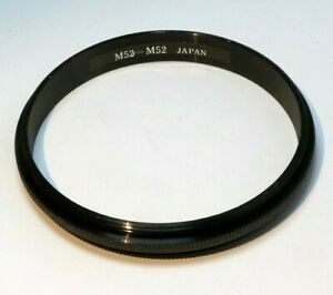 52mm to 52mm ring Metal adapter double male threaded reverse macro close-up