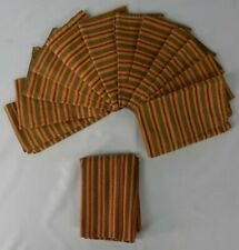 Set Of 12 Cloth Napkins One Sided With One Table Cloth Striped Pattern 15x16