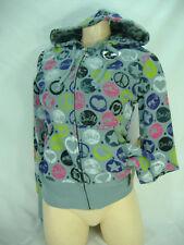 New Junior Womens XS O'neill Oneill Gray Reversable Zip Hoody Jacket