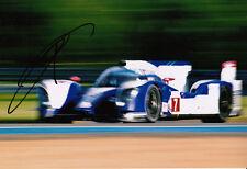 Kazuki Nakajima mano firmato TOYOTA RACING FOTO 12X8 1.