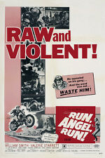 Run, Angel, Run (1969) William Smith cult Bikers movie poster print