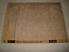 Volkswagen Sharan,Sharan Syncro mod.96on EN PIEZAS Microficha Juego Completo de