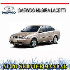DAEWOO NUBIRA LACETTI 2002-08 WORKSHOP SERVICE REPAIR MANUAL ~ DVD