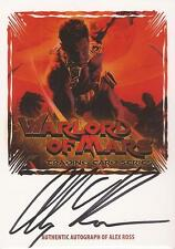 "Warlord of Mars - WMAZ-AR ""Alex Ross"" Fold-Out Z-Card Auto / Autograph"