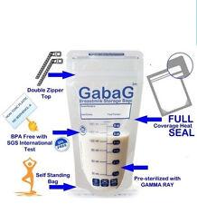 30 Breast Milk Storage Bags BPA free sterilise breastmilk breastfeeding Gabag