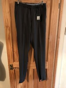 Scania Trousers 32W,36L Un hemmed, Smart, straight In Grey NEW