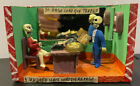 Day of the Dead Folk Art Diorama. Office scene with political message.