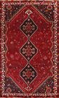 Vintage Geometric Abadeh Tribal Oriental Area Rug Hand-knotted Wool Carpet 7x10