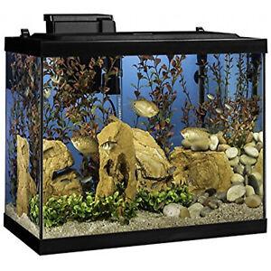 Tetra 20 Gallon Complete Aquarium Kit w/ Filter, Heater, LED & Plants
