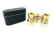 Belfont Brass Mother Of Pearl Opera Glasses With Case