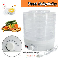 5 Tray Electric Food Dehydrator Machine Portable Countertop Fruits Meat Dryer