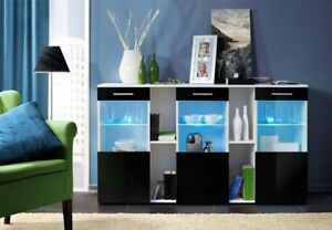 Montreal SB4 - black and white dresser / modern sideboard / buffet cabinet