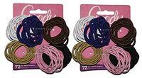 Goody Girls Ouchless Elastic Hair Ties No-metal 144 count Original Colors 2-Pack