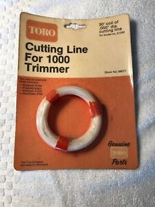"NOS Genuine Toro 88011 Weedeater String 30ft .050"" Series 1000 Trimmers OEM"