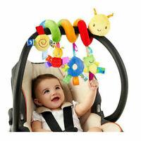 1PC Baby Crib Mobile Plush Animal Hanging Rattle Toy Spiral For Stroller Pram