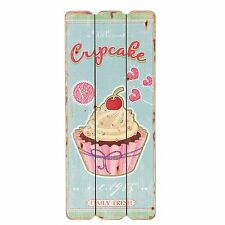 CUADRO MADERA Muffin CUP CAKE Nostalgia Shabby Chic Vintage Cottage Corazón