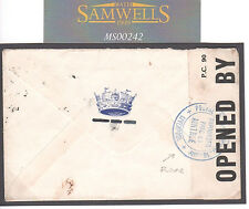 MS242 GB WW2 IMPOUNDED PARCEL Cachet Aintree Censor Liverpool Canada Naval E