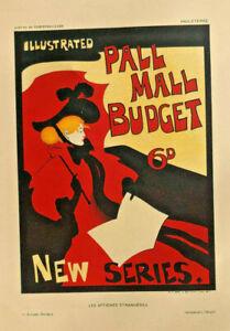 "GREIFFENHAGEN, Maurice - 'Pall Mall Budget' from ""Les Affiches Etrangeres""-1896"