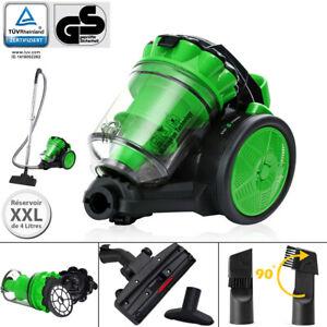 Aspirateur sans sac 900 W Eco Power Multi cyclone vert 2en1 puissant