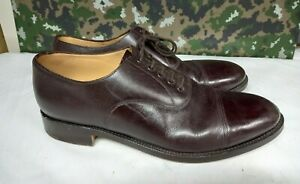 Men's British Army Military Surplus Officer's Tapped Brown Parade Dress Shoes 11